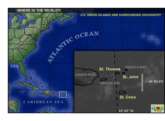 Caribbean Weather News For The US Virgin Islands - Weather map us virgin islands